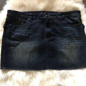 Rock Republic Groupie Mini Jean Skirt Plus Sz 16